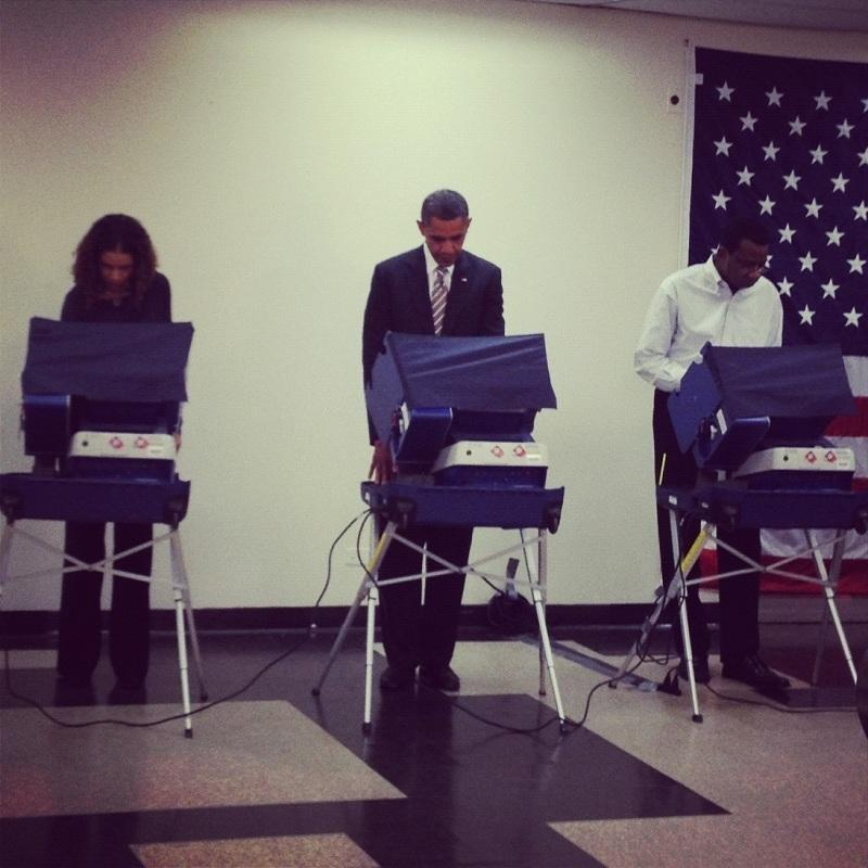 President Barack Obama Voting