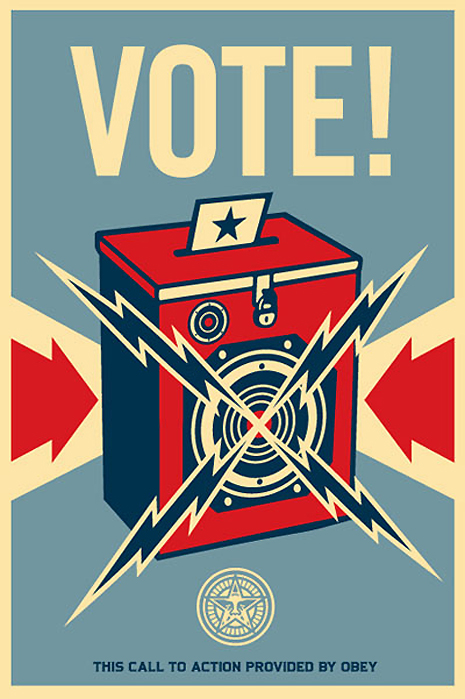 Vote Poster by Shepard Fairey