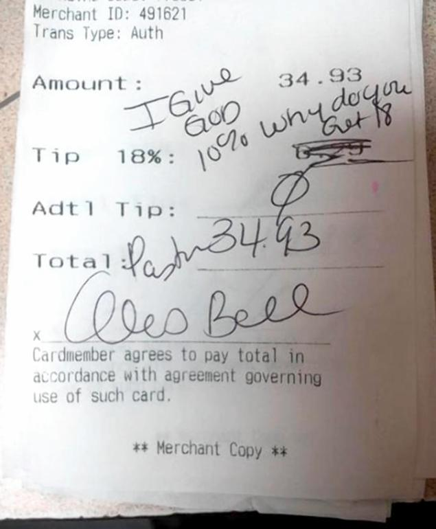 A Letter to the Applebee's Waitress