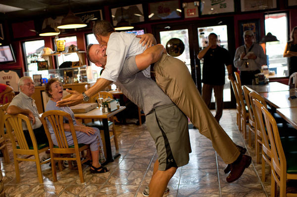 Barack Obama Hug