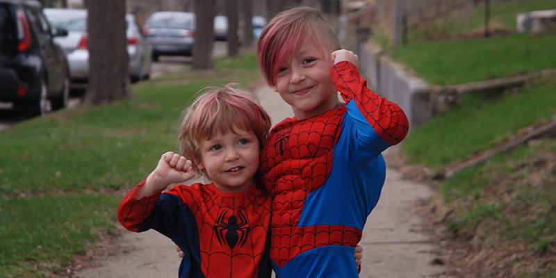 Why My Boys Wore Spiderman Costumes to Church Today